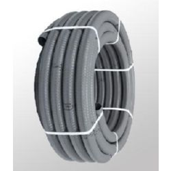 Tubo pvc 50 mm hidrotubo gris flexible for Tubo de pvc flexible